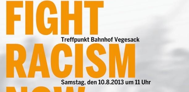 10. August, Bremen-Vegesack: Fight Racism now – Solidarität mit den Geflüchteten !