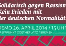 26. April, Goe­the­platz: So­li­da­risch gegen Rassismus!