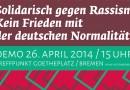 26. April, Goetheplatz: Solidarisch gegen Rassismus!