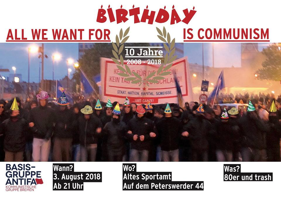 Happy Birthday: 10 Jahre Basisgruppe Antifaschismus @ Altes Sportamt | Bremen | Bremen | Deutschland