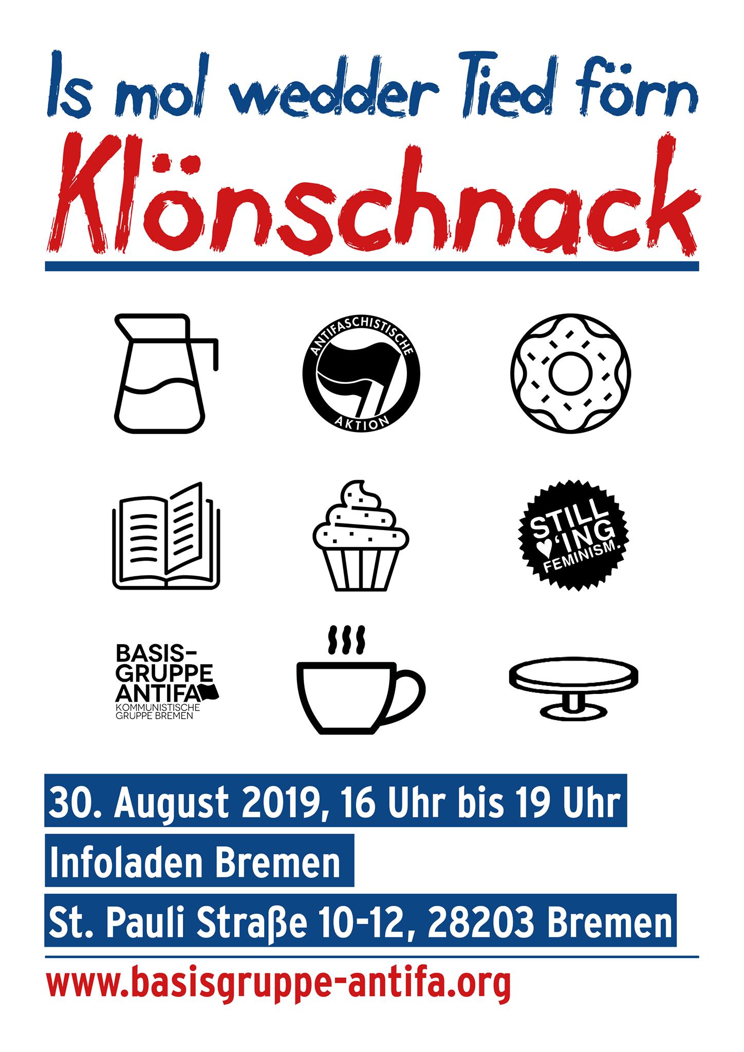 Is mol wedder Tiet förn Klönschnack @ Infoladen Bremen | Bremen | Bremen | Deutschland